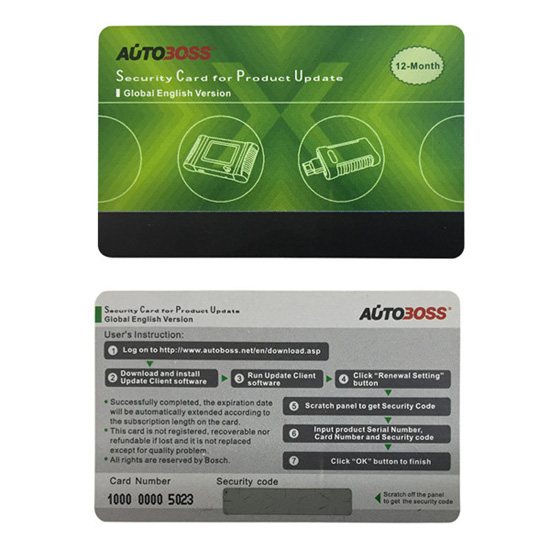 Autoboss V30/V30 Elite Security Card for One Year Online Update